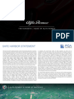 FCA 2018 Alfa Romeo Brand 5-Year Plan