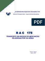 RAC 175 Transporte Sin Riesgos de Mercancías Peligrosas Por Vía Aérea