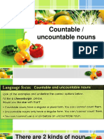 Expressions of Quantity Countable and Uncountable Nouns