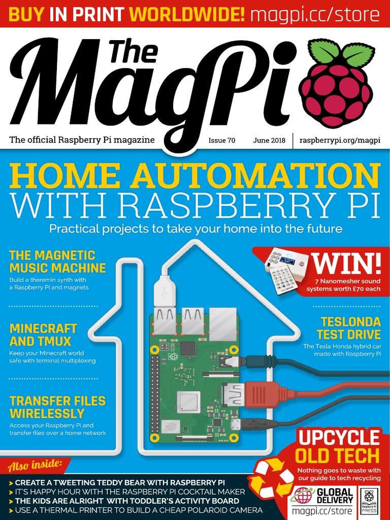 Magpi70 Raspberry Pi Closed Circuit Television Wiringpi Encoder