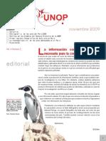 Boletin Informativo UNOP Vol. 4 N° 2. 2009
