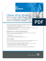 OSHA 10-30 Hour Course List-1