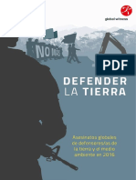 Defender La Tierra - Global Witness Informe Sobre Asesinatos de Defensores 2017