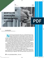 A polêmica acerca da execução da sentença criminal
