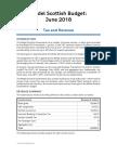 Model Scottish Budget 2018/19 (June 2018)