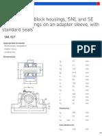 Split plummer block housings, SNL and SE series for bearings on an adapter sleeve, with standard seals - SNL 517 + 1217 K + H 217
