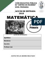 MATEMÁTICA 4°