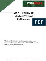 JWX 10_MDX 40 MachineWizard Calibration