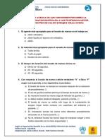 Cuestionario Para Personal de Salud