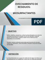 Biosurfactes-Aprovechamiento de Residuos