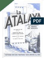 La Atalaya 1 de junio de 1960