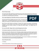 CWA Communications statement on AT&T strike