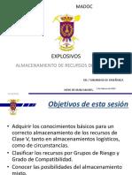 """PRESENTACIÓN EXPLOSIVOS-ALMACENAMIENTO DE RECURSOS DE CLASE """"V"""""""