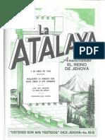 La Atalaya 1 de abril de 1960