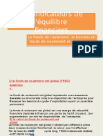 Les Indicateurs d'Equilibre Financier