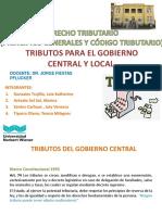 Derecho Tributario- Gobierno Central y Local