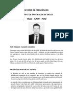 50 Aniversario Del Distrito de Santa Rosa de Sacco - Yauli - Junín - Perú