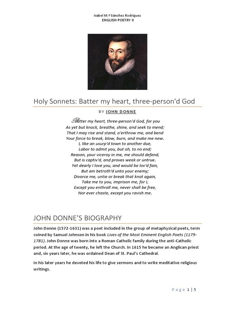 batter my heart john donne summary