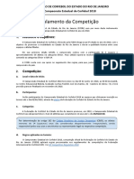 Campeonato Estadual de Corfebol 2018 - Regulamento