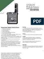Tc Electronic Dark Matter Distortion Manual English
