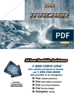 2001 Chevrolet Tracker Owners