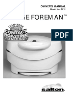 George Foreman Contact Roaster