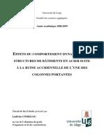 TFE Comeliau_Effets du comportement dynamique des structures de bâtiments en acier suite à la ruine accidentelle de l'une des colonnes portantes.pdf
