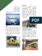 Medios de Transporte y Recursos Naturales de Guatemala
