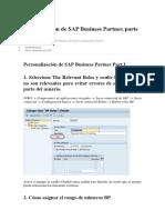 Configuración de SAP Business Partner