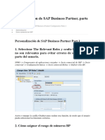 Configuración de SAP Business Partner