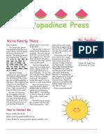 newsletter 6-1-18