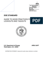 Doe Guide to Good Practices for Lockouts and Tagouts Doe-std-1030-96