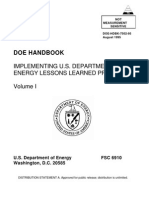 Doe Implementing u.s. Department of Energy Lessons Learned Programs Doe-hdbk-7502-95