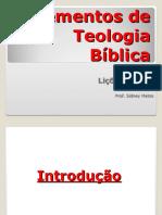Elementos de Teologia Bíblica Aulas1, 2 e 3