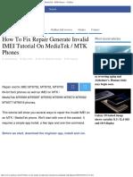 How to Fix Repair Generate Invalid IMEI Tutorial on MediaTek _ MTK Phones – GizBeat