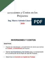 Inversiones Capital de Trabajo y Costos Del Proyecto 2018