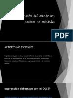 Relación Del Estado Con Actores No Estatales
