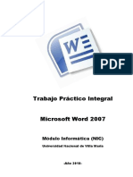 TP Integral Word 2007 Año 2018