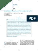 Rehabilitative Treatments of Chronic Low Back Pain