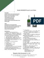 Data+sheet+of+AWA6228+Multifunction+Sound+Level+Meter