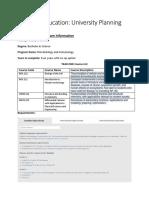 university reserch worksheet