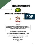 Tesis de Ladrillos Artesanales - Torre (2016)