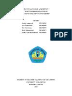 Error Analysis SLA Final