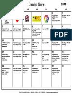Calendar June 2018 PDF