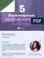 5 Dicas de Instagram Para Negócios Maternos