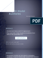 English Modal Auxiliaries
