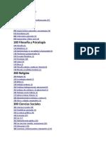 Clasificacion Decimal Dewey (Ddc)