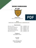 ADMINISTRACION CLASIFICACION Y ORIGEN