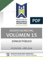 Vol. 15 - Espacio Publico