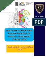 Bases Feria Nacional de Ciencia y Tecnología Eureka 2018